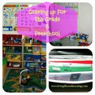 gearing up for 5th grade and preschool
