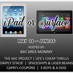 ipad or suface tablet giveaway