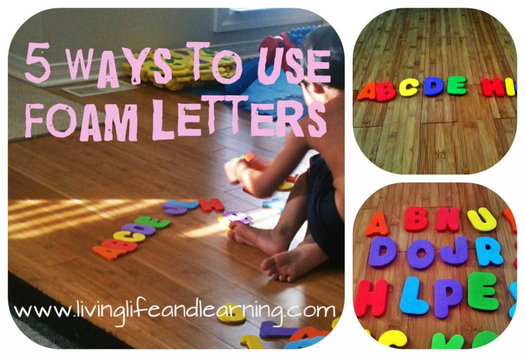 5 ways to use foam letters