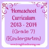 homeschool curriculum grade 7 senior kindergarten