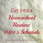get into a homeschool routine make a schedule