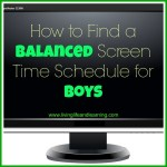 how to find a balanced screen time schedule for boys