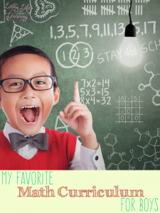 Great homeschool math curriculum for boys