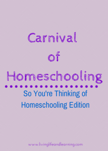 Carnivalof Homeschooling: So You're thinking about homeschooling