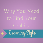 What is Your Child's Learning Style