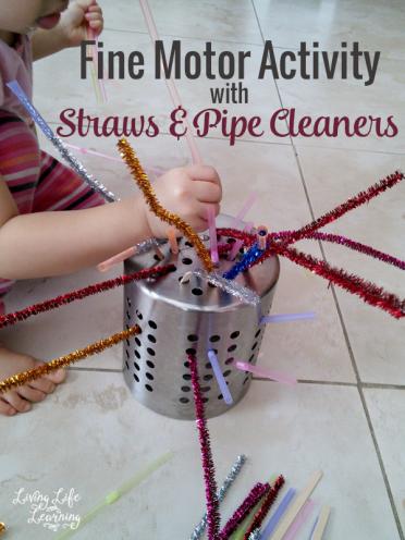 Fine Motor Activity with Straws