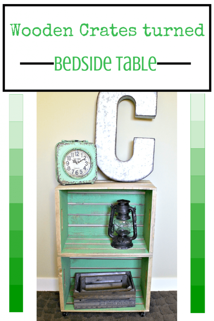 Bloggers brags pinterest party week 45 for Wooden crate bedside table