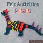 Have fun designing your own felt dinosaurs