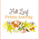 Fall leaf prints activity