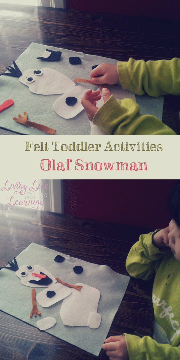 Simple way to bring Frozen alive - toddler activities: felt Olaf snowman
