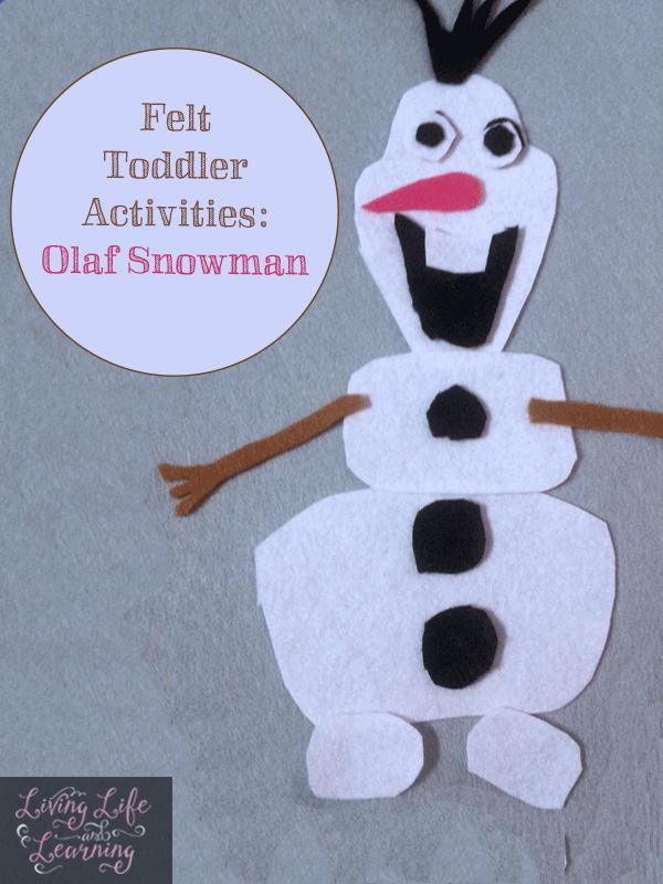 Felt Toddler Activities: Olaf Snowman