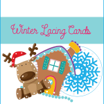 A great activity to practice fine motor skills: winter lacing cards