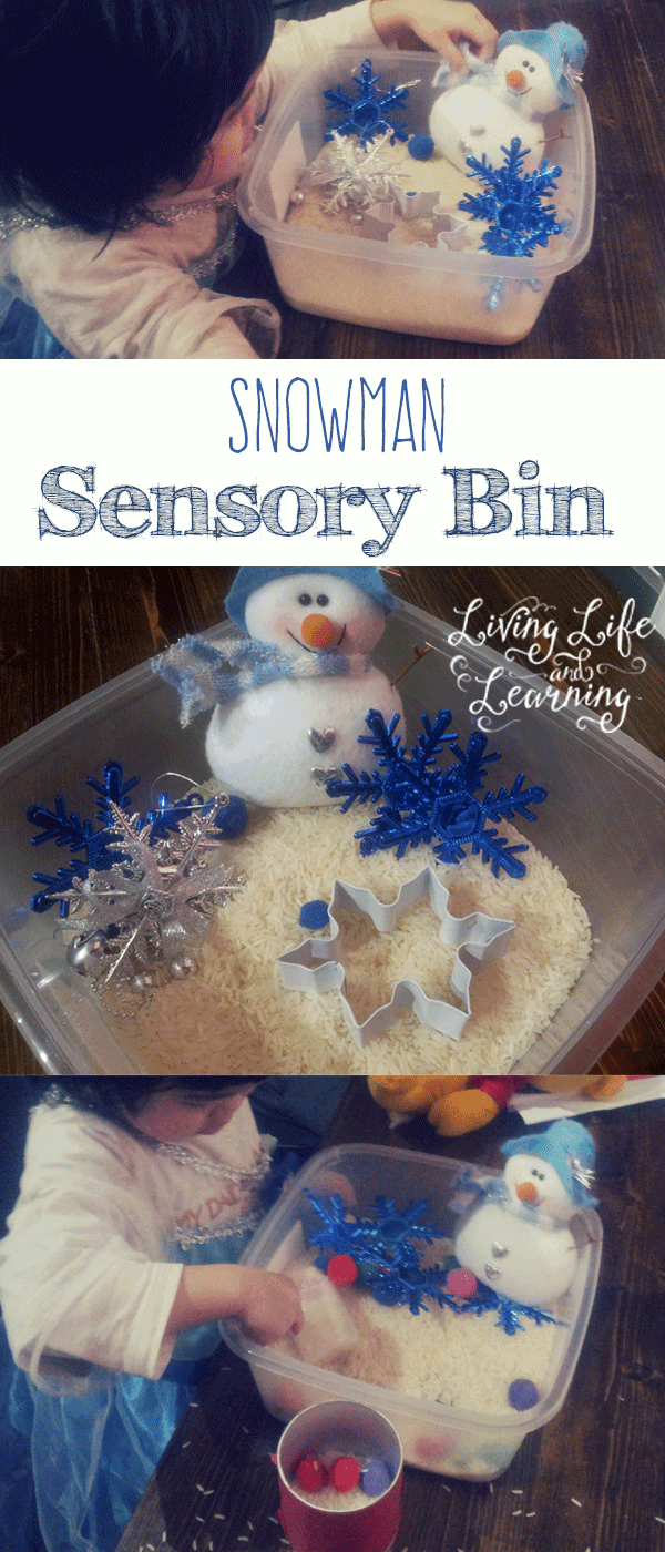 Toddler-activity-snowman-sensory-bin