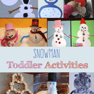Have fun building these snowman toddler activities