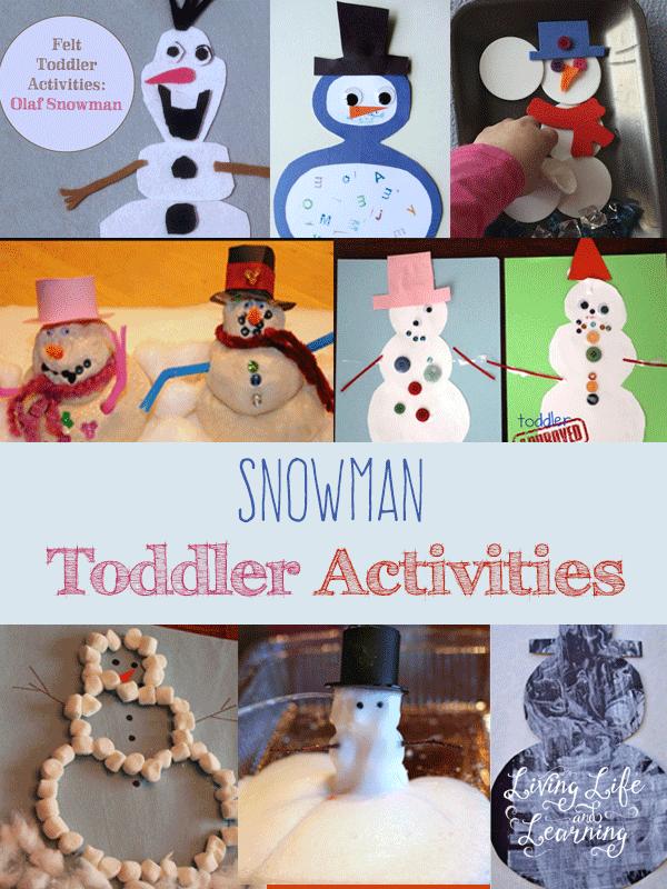Snowman Toddler Activities