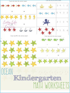 Have learning math with these Under the Sea Kindergarten Math Worksheets