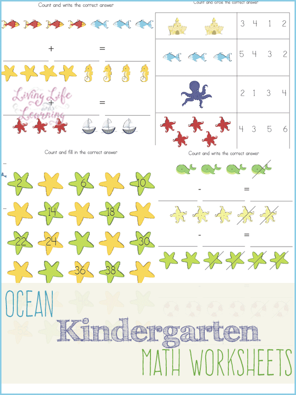 math worksheet : under the sea kindergarten math worksheets : Free Kindergarten Math Worksheets
