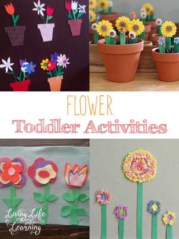 Have fun with your little one with these great flower toddler activities