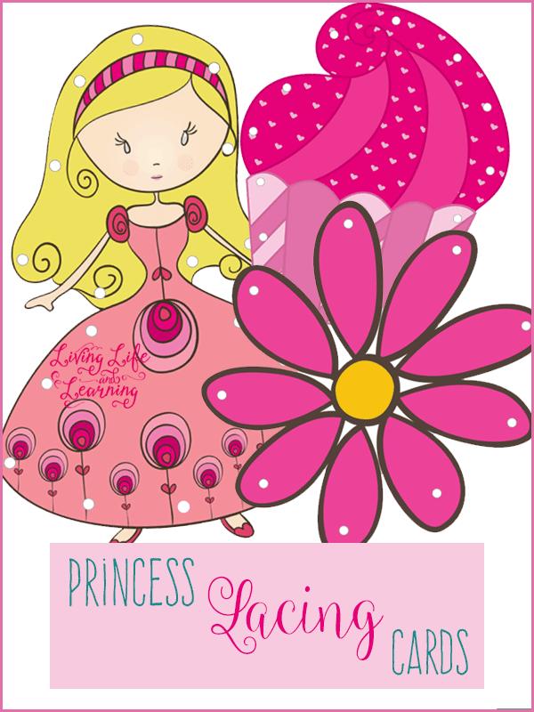 Princess Lacing Cards