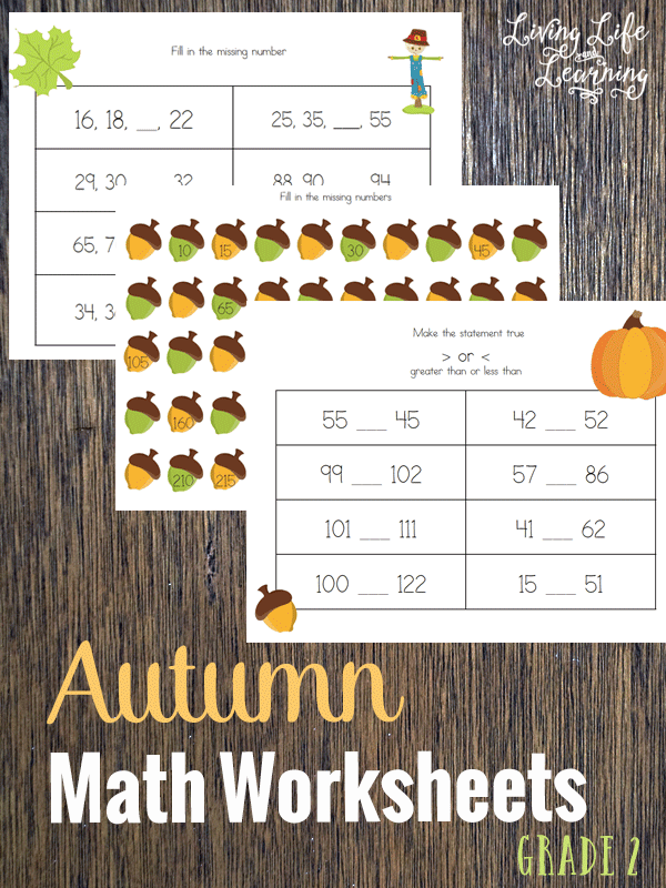 math worksheet : autumn math worksheets for 2nd grade : Autumn Math Worksheets