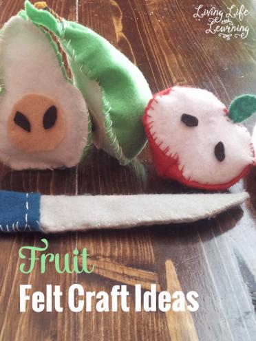 Fruit Felt Craft Ideas: Apple, Pear and Orange + Giveaway