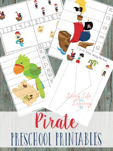 Pirate Preschool Printable