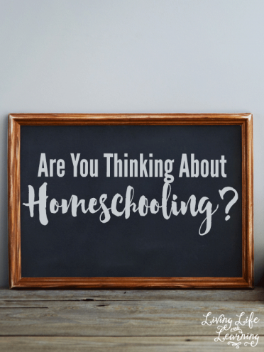 Are You Thinking about Homeschooling?