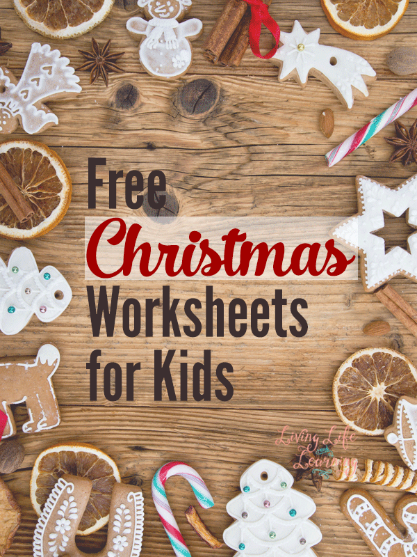 Free Christmas Worksheets for Kids – Christmas Themed Worksheets for Kindergarten