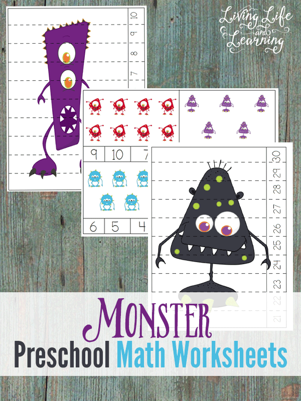 Fun monster preschool math worksheets that your student will love, who said monsters had to be scary? Make learning fun with these counting printables