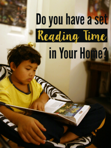 Do You Have a Set Reading Time in Your Home? #BooksToKids