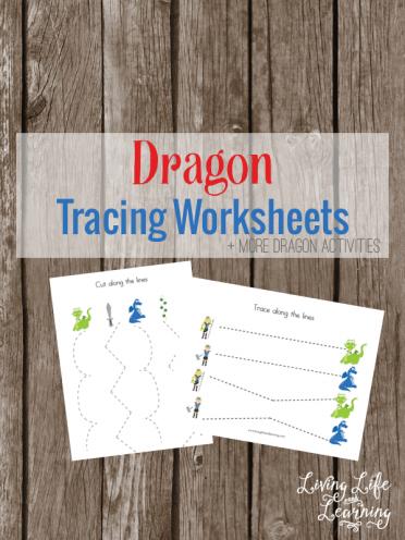 Dragon Tracing Worksheets