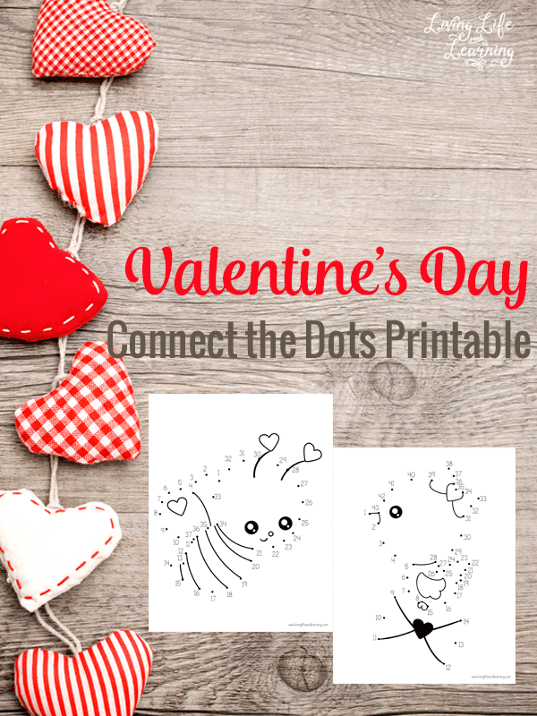 Have fun with these Valentines day connect the dots printables, your kids will thank you for this great counting activity.