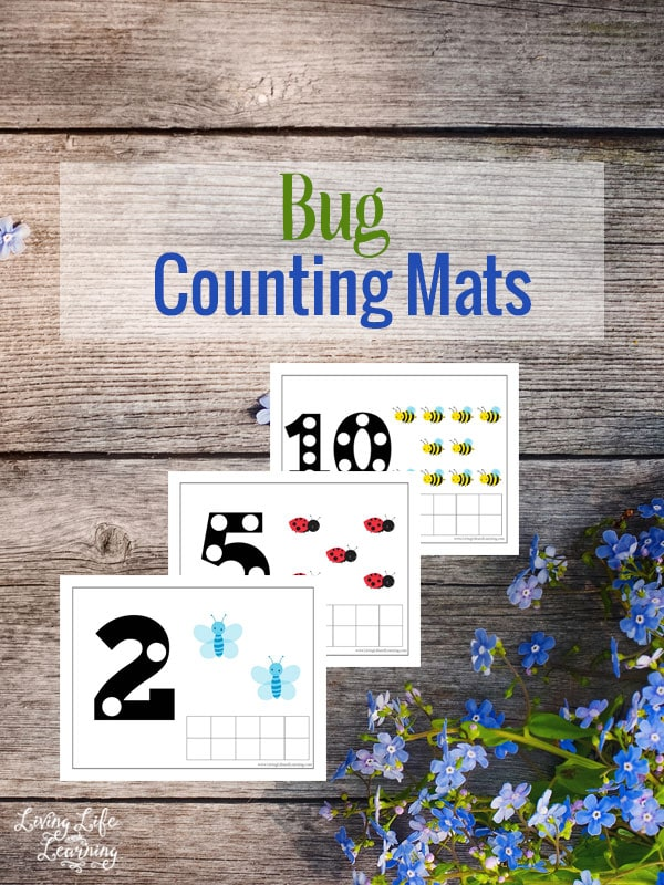 Your little one will enjoy these cute bug counting mats to count from 1 to 10