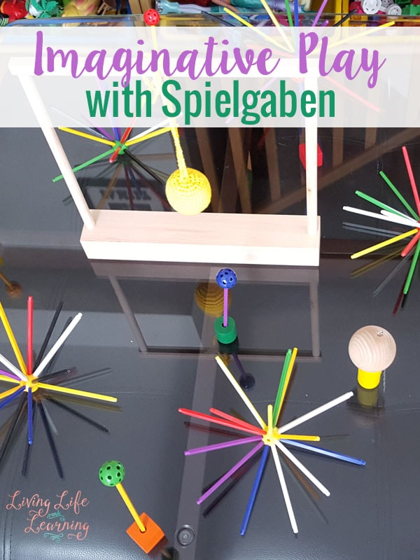 These open ended toys are a great way to invite imaginative play with Spielgaben toys