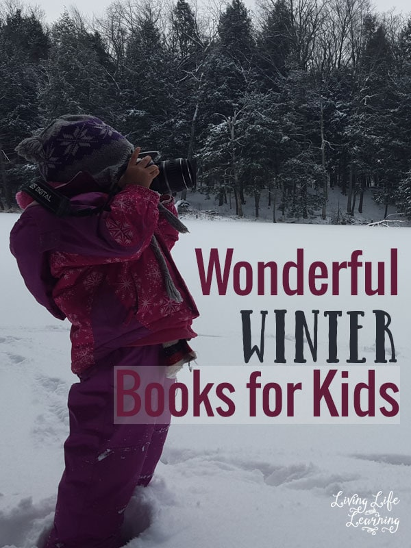 Luckily we don't have any snow here yet, but winter is fast approaching, why not incorporate it into your homeschool with some fun Winter books for kids?