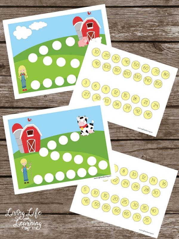 Farm Skip Counting Worksheets