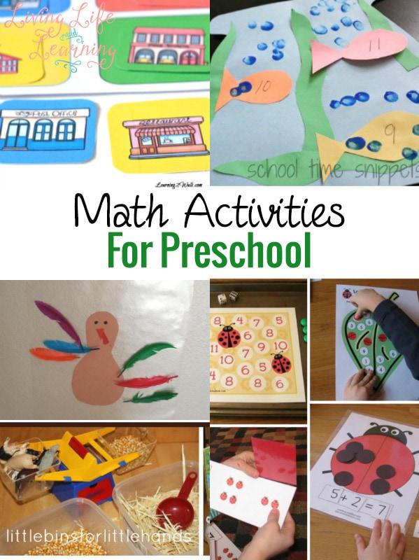 Math Activities for Preschool