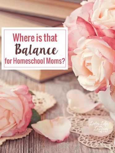 Where is That Balance for Homeschool Moms?