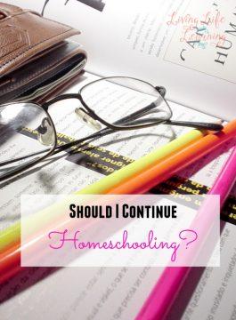 Should I Continue Homeschooling?