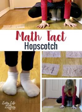 Hands-On Math: Math Fact Hopscotch
