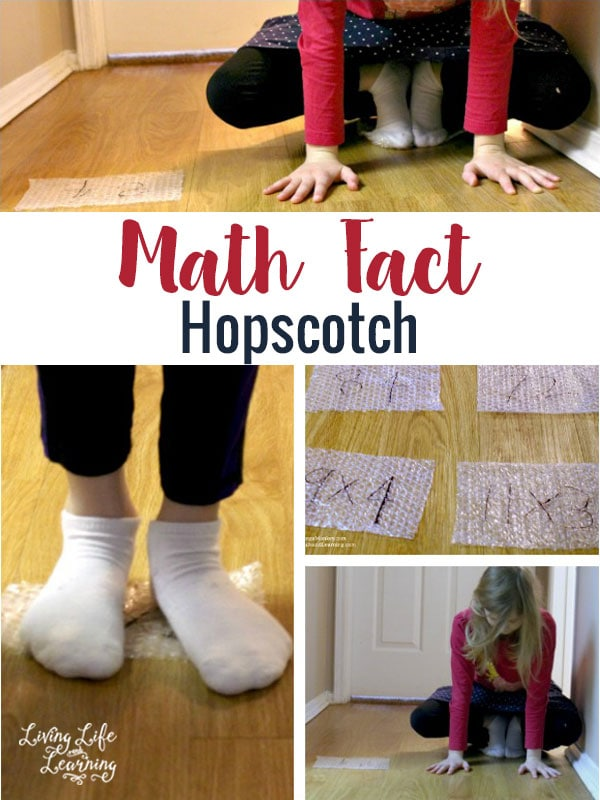 Hands-On Math: Math Fact Hopscotch