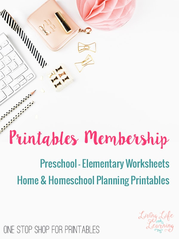 Grab all of the preschool to elementary printables from my blog in one convenient location. No more hopping around to each post to do so. Want more printables? Get the premium membership for printables galore!