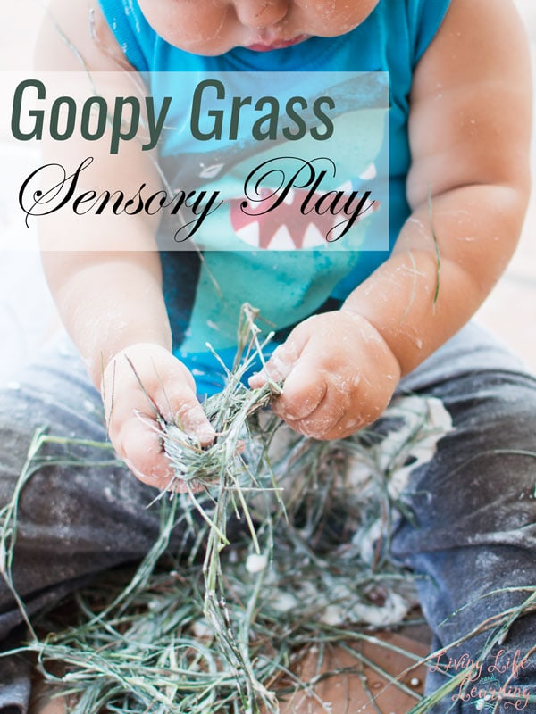 Goopy Grass Sensory Play