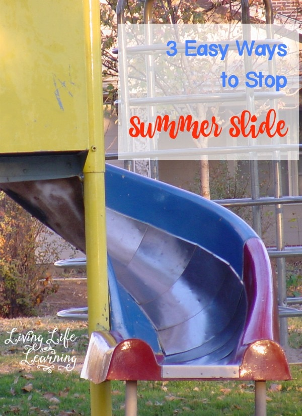 Worried about the summer slide? Stop summer slide in your homeschool with these three simple tips! You won't believe how easy it is!