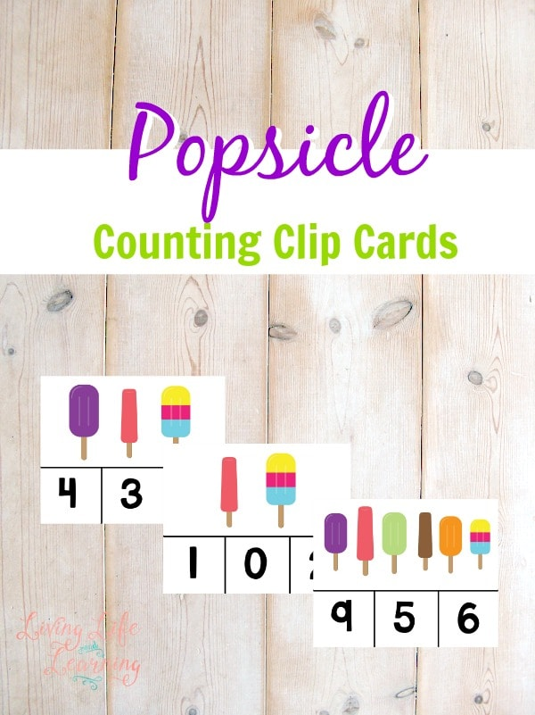 Popsicle Counting Clip Cards