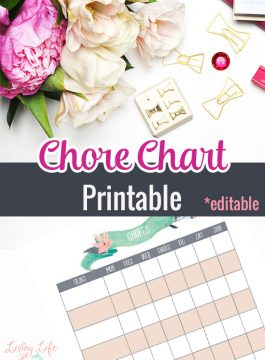 Chore Chart for Kids Printable
