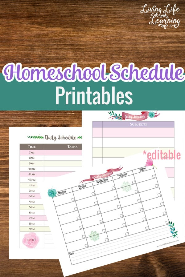 Peaceful image with regard to printable homeschool schedule