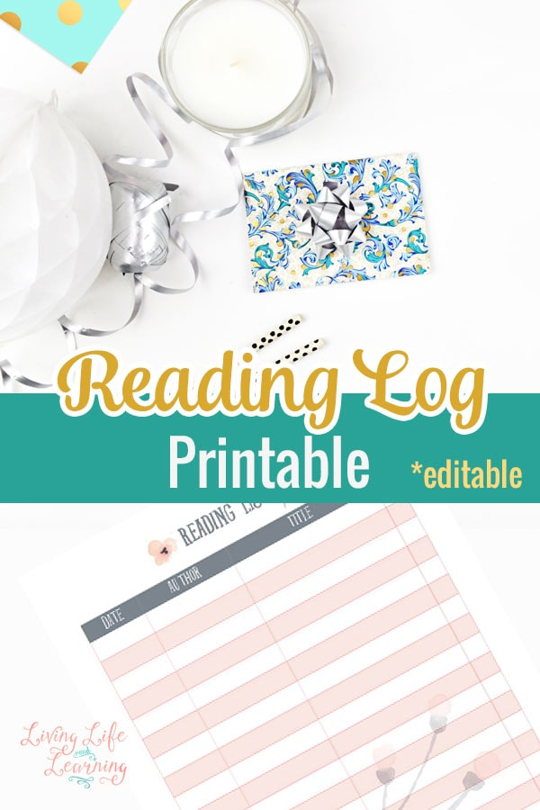 Keep track of all of the books you'll get to read this summer with this pretty reading log printable