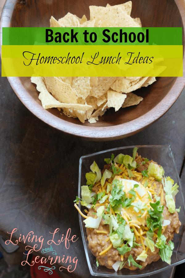 Back to School Homeschool Lunch Ideas