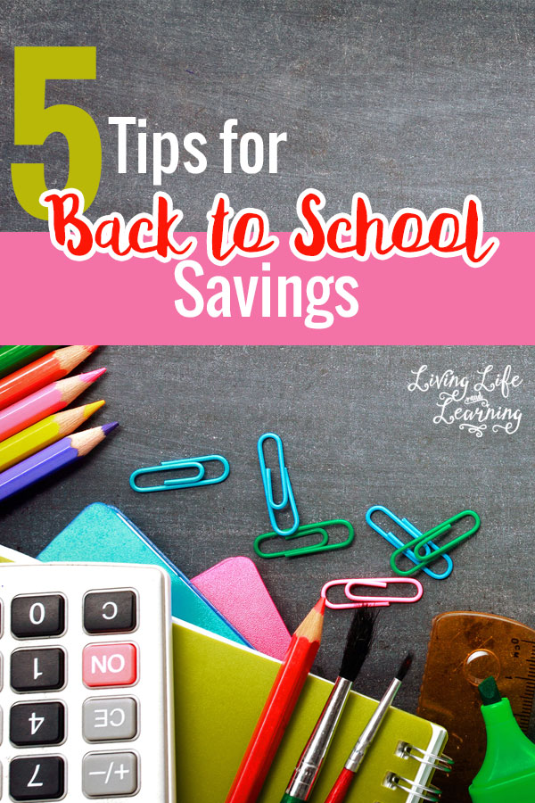 Don't let your wallet take a huge hit from back to school shopping, these 5 tips for back to school savings will have you spending less